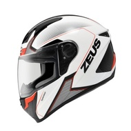 ZEUS 瑞獅 ZS-811 ZS811 AL6 白黑/紅 全罩 內襯可拆 安全帽