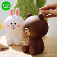 正版熊大兔兔存錢筒 line friends 造型存錢筒 擺飾品 熊大 兔兔 莎莉 line choco 熊大妹妹 莎莉