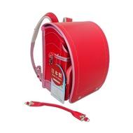 2019年新款日本協和製櫻桃紅色搭桃紅色自動上鎖小學生書包(活動式提把)日幣售價48600元