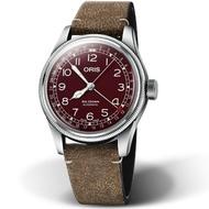 ORIS 豪利時 BIG CROWN摩登飛行手錶 0175477414068-0752050 酒紅