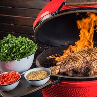 "BBQ Kamado 窯烤爐 21""烤肉爐 燒烤爐 炭烤爐-外星人餐具"
