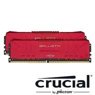 美光 Crucial Ballistix D4 3600/16G(8G*2)紅 雙通