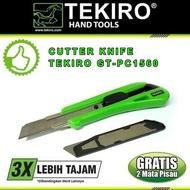 Cutter / Pisau Cutter Besar 18 Mm + 2 Mata Pisau Tekiro Gt-Pc1560