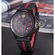 新款法拉利運動手錶 三眼可動 六針全功能 防水手錶 歐美潮流手錶 石英機芯 男錶 女錶 對錶 畢業禮物-