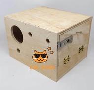 กล่องเพาะ รังไม้ รักฝัก รังนก หงหยกส์ รังเพาะนก รังฝัก กว้าง 16.5 X 20 X 14 Cm. เหมาะสำหรับนกหงหยกส์