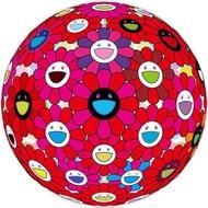 現貨在台 村上隆 紅花球 版畫  300版 村上隆日本畫廊購入,保證正版,附原廠包裝 (直徑71cm)