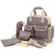 กระเป๋าใส่ขวดนม กระเป๋าแม่ลูกอ่อน กระเป๋าเดินทางเด็กเล็ก กระเป๋าสัมภาระคุณแม่ กระเป๋าเด็กแรกเกิด เซทของขวัญเด็กแรกเกิด สีเบจ