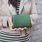 CLEDRAN|日本復古款 經典銖釦真皮短夾 綠色綠色