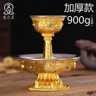 供水杯 尼泊爾藏式佛教銅鎏金八吉祥護法杯不銹鋼內膽小號供水杯供杯擺件 曼慕衣櫃