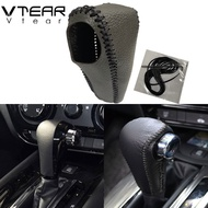 For Honda HR-V Vezel XR-V XRV HRV 2014-2019AT Black Genuine Leather Shift Knob Gear sets Sleeve Stick Cushion Interior Decoration Pad