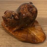 肖楠釘瘤豬 SDD103 木雕擺件 收藏藝品(文昌筆 聚寶盆 紫水晶 台灣黃檜 肖楠 龍柏 龍筆 藝品架 都有賣)