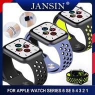 ใหม่ซิลิโคนระบายอากาศกีฬาวงดนตรี for Apple Watch Series 5 4 3 2 1 42MM 38MM สายยาง For Apple Watch 5 4 3 40mm 44mm Sports Accessories