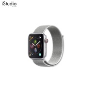 AppleWatch Series4 GPS+Cellular, 44mm Silver Aluminium Case with Seashell Sport Loop [iStudio by UFicon]
