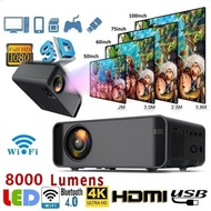8000 Lumens LED Mini Projector 1080P WiFi 3D 4K HD LED Mobile Phone Wireless Projector Support 4K 3D Home Video Projector