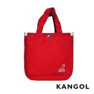KANGOL 韓版極簡玩色-MINI帆布斜背小方包-棗紅AKG1215