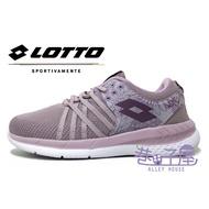 義大利第一品牌-LOTTO樂得 女款花漾雙密度跑鞋 [6827] 紫【巷子屋】