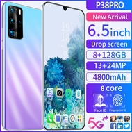 P38 pro Mobile Phone 6.5 inch 8GB RAM+128GB ROM Smart Phone
