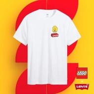 【LEVIS】X LEGO 男女同款 短袖T恤 / 經典樂高積木Logo / 寬鬆休閒版型 / 白-熱銷單品