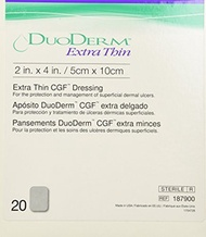 [USA]_ConvaTec Duoderm 187900 - Extra Thin 2 x 4 Rectangle (Box of 20 Dressings) by Convatec