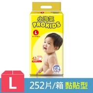 【小淘氣】透氣乾爽紙尿褲-L (42片x6包) / 2箱