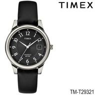 Timex TM-T29321 นาฬิกาข้อมือผู้ชาย สายหนัง สีดำ