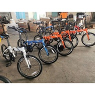 "XDS W7 Folding Bike 20"" 6 speed Ready stock Blue/Orange"