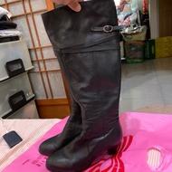 「二手鞋」女生真皮長靴 39號