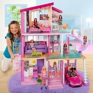 芭比娃娃Barbie夢想豪宅芭比娃娃套裝女孩玩具生日禮物兒童玩具【快速出貨】