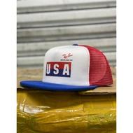 🔥 READY STOCK 🔥 RAY-BAN RAYBAN USA TRUCKER CAP VINTAGE REPRO SNAPBACK