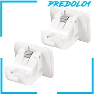 [PREDOLO1] 2x Curtain Rod Brackets No Drill Adjustable Hang Curtain Rod Holders for Kitchen
