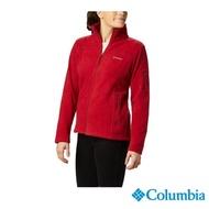 【Columbia 哥倫比亞】女款-刷毛外套-紅色(UER10120RD / 保暖.舒適.針織)