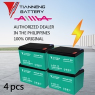 TIANNENG Battery (4pcs) 48v12Ah Sealed Lead Acid Battery for Electric Bike AA eBike Aima eBike Model: 6-DZF-12 100% Original