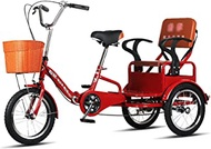 Adult Tricycle 16 INCH Foldable Tricycles With Backrest Seat Trike Bike Bicycle For Seniors Women Men Trikes Recreation Shopping