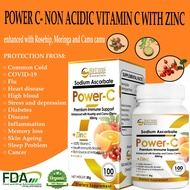 [Lowest Price  ] 100 CAPSULES(Bottle) POWER C WITH ZINC 500MG Sodium Ascorbate With Zinc, Vitamins with Zinc, Vitamin C Plus Zinc, Non Acidic Sodium  Ascorbate 24 Alkaline C, Immunpro Vitamin C With Zinc vitamins Pampataba Original For Adult