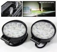 1x9 12v 24v LED round Work Lamp Off-Road Flood Sport Light Boat Tractor Truck