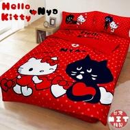 """[獨家]🐈日本授權""""KITTY""""系列雙人床包組 /涼被[ Nya貓聯名款 ]現在買床包組就送$360 Kitty 抱枕一顆"""