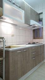 木紋系列 晶潔廚具 木芯桶+美耐門+美耐檯面 上下櫃210CM搭豪山三機
