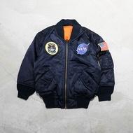 【車庫服飾】ALPHA YOUTH NASA MA-1 外套 電繡徽章 小孩款 童裝飛行外套