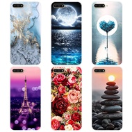 【case】huawei y6 2018 printed case cartoon back cover for huawei y6 2018 soft silicone tpu case for y6 2018