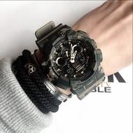 現貨  當天出  CASIO G-SHOCK卡西歐男士手錶 潛水 重裝迷彩潮流運動腕錶 卡其色 綠色 運動手錶 時尚手錶
