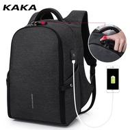 KAKA 新款防盜後背包 男士休閑後背包 多功能雙肩背包 大容量書包 旅行後背包 商務USB充電背包