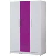 【C967-06】塑鋼衣櫃(B-276)(紫、白色)