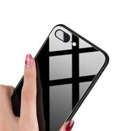 送保護貼 防刮玻璃背蓋i8 Plus手機防摔殼i7 Plus保護殼 iPhone X SE2 軟邊框透明殼 免背貼手機殼