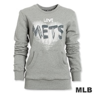 MLB-紐約大都會隊愛心厚棉T恤-灰(女)