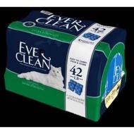 新包裝Ever Clean藍鑽 /一袋內有4小包/無香低過敏 超凝結貓砂 42磅約19公斤 /宅配超過2件砂限送到一樓