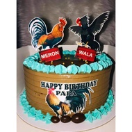 Sabong/Rooster Cake Toppers
