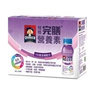 【QUAKER 桂格】完膳營養素100鉻含纖配方237ml×36瓶