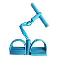 4ความต้านทานการออกกำลังกายยางยืดเชือกยางยืด Exerciser พายเรืออุปกรณ์ท้องสายยืดมีแรงต้านออกกำลังกาย Trai