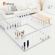 ☃✉Indoor Combination Dfang Plastic Fence Isolation Door Cage Small Dog Pet Supplies