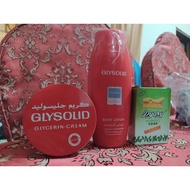 Glysolid Lotion,Cream80ml and Pyary Soap